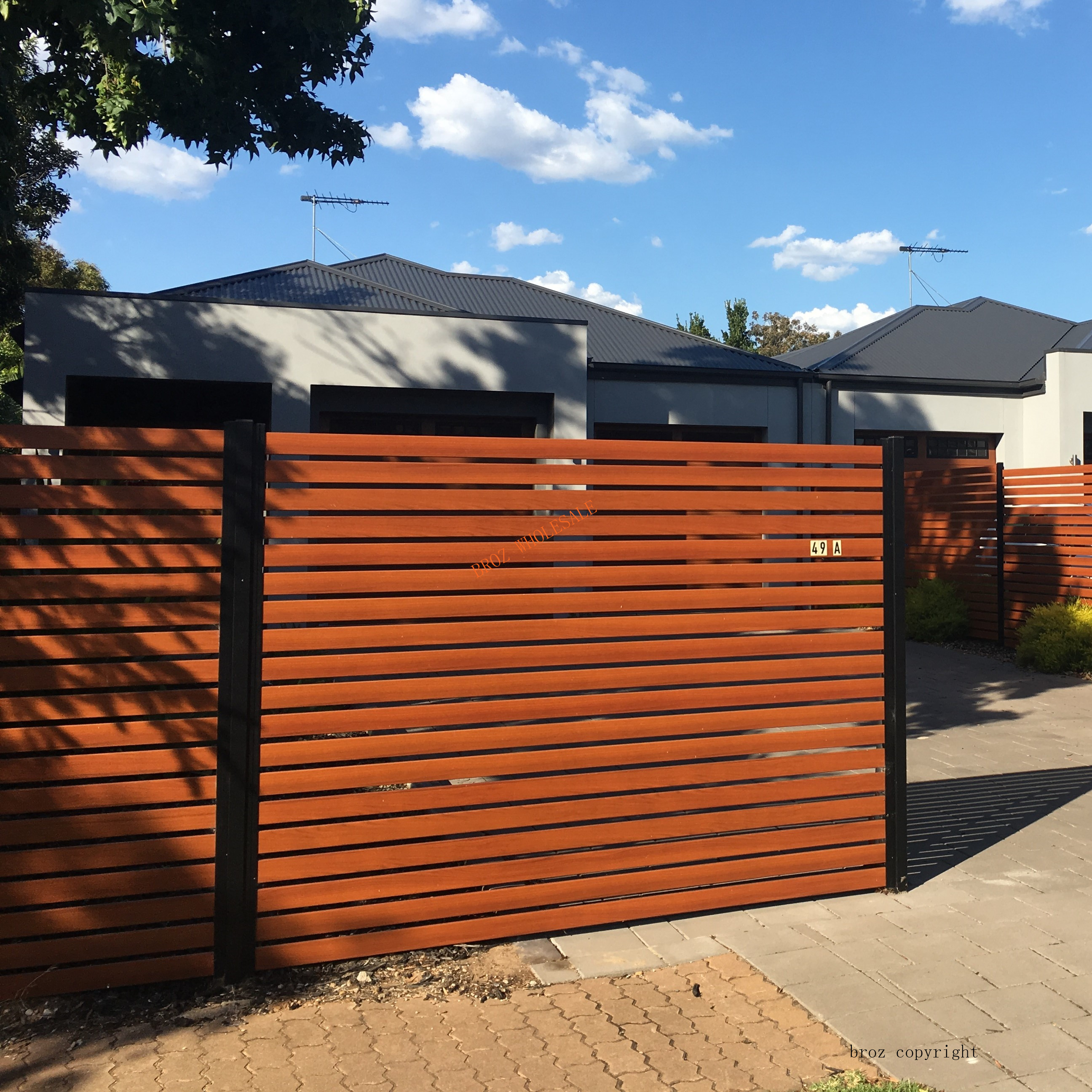 nice wood fence panels cheap
